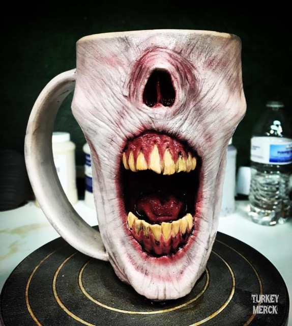 Turkey merck zombie mugs